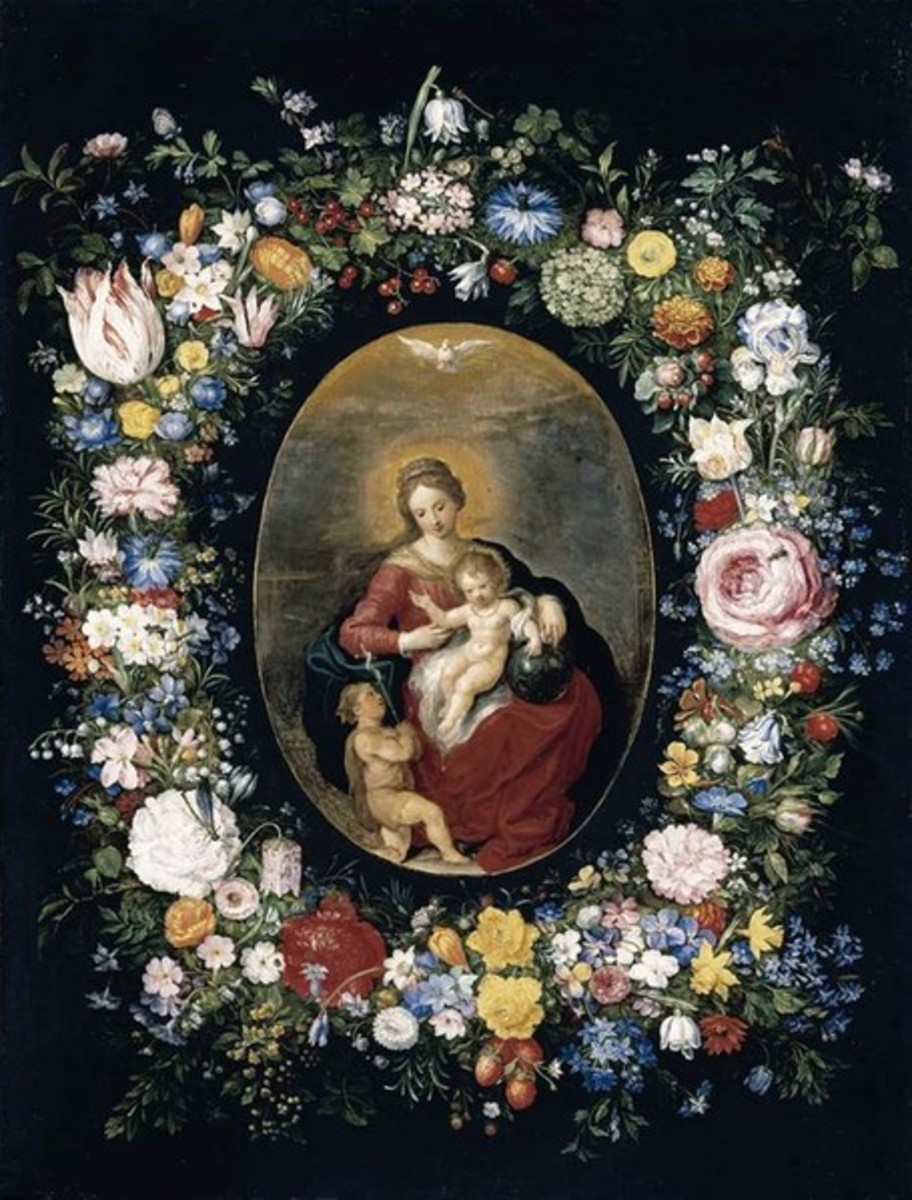 Image Courtesy of Wikimedia: Virgin and Child with Infant St John in a Garland of Flowers by Jan Brueghel and Frans Francken