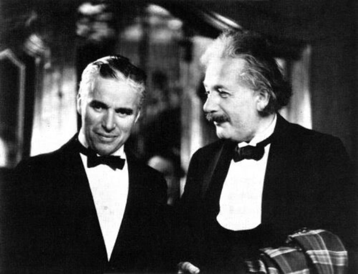 Charlie Chaplin and Albert Einstein