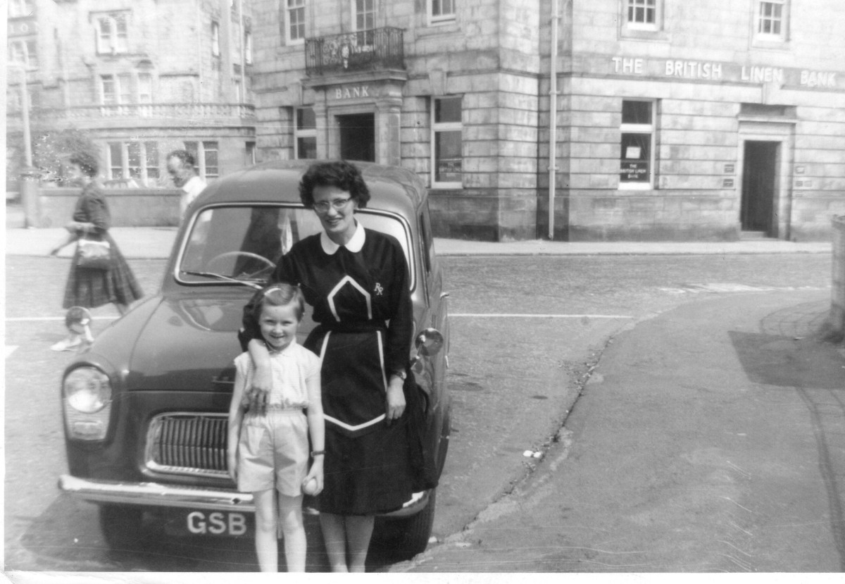 My mum and Elspeth, in Greenock, Scotland, around 1962