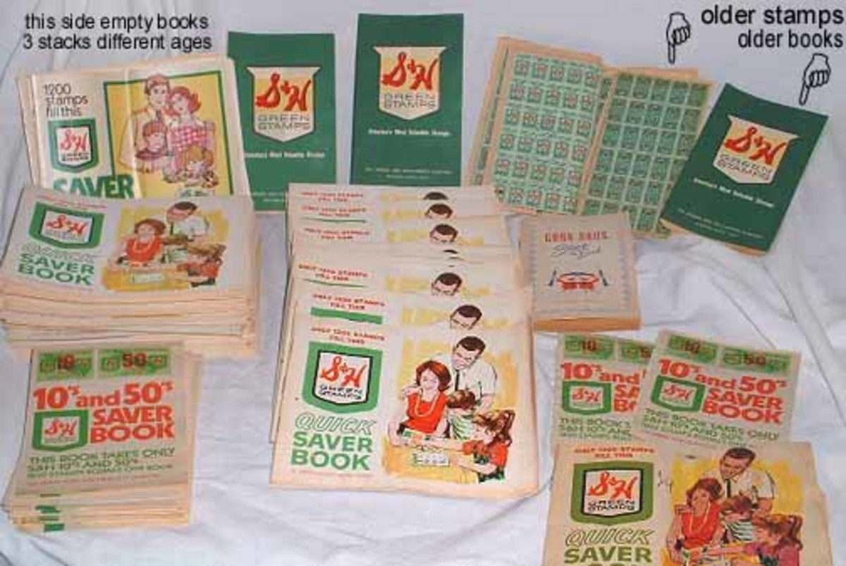 Some of the old school trading stamps.