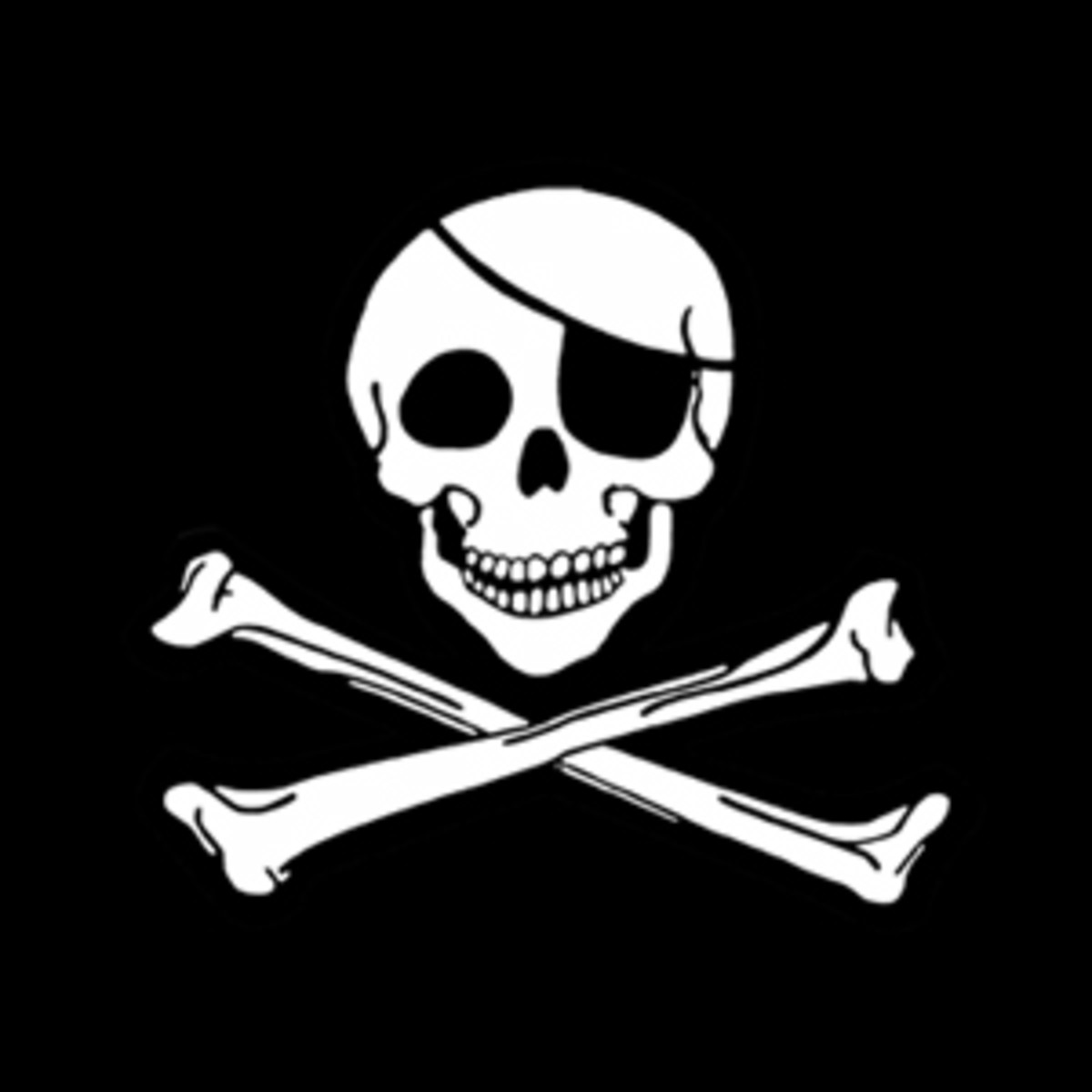 "The ""Jolly Roger"" flag of pirates. I hear the rest of Roger was delicious!"