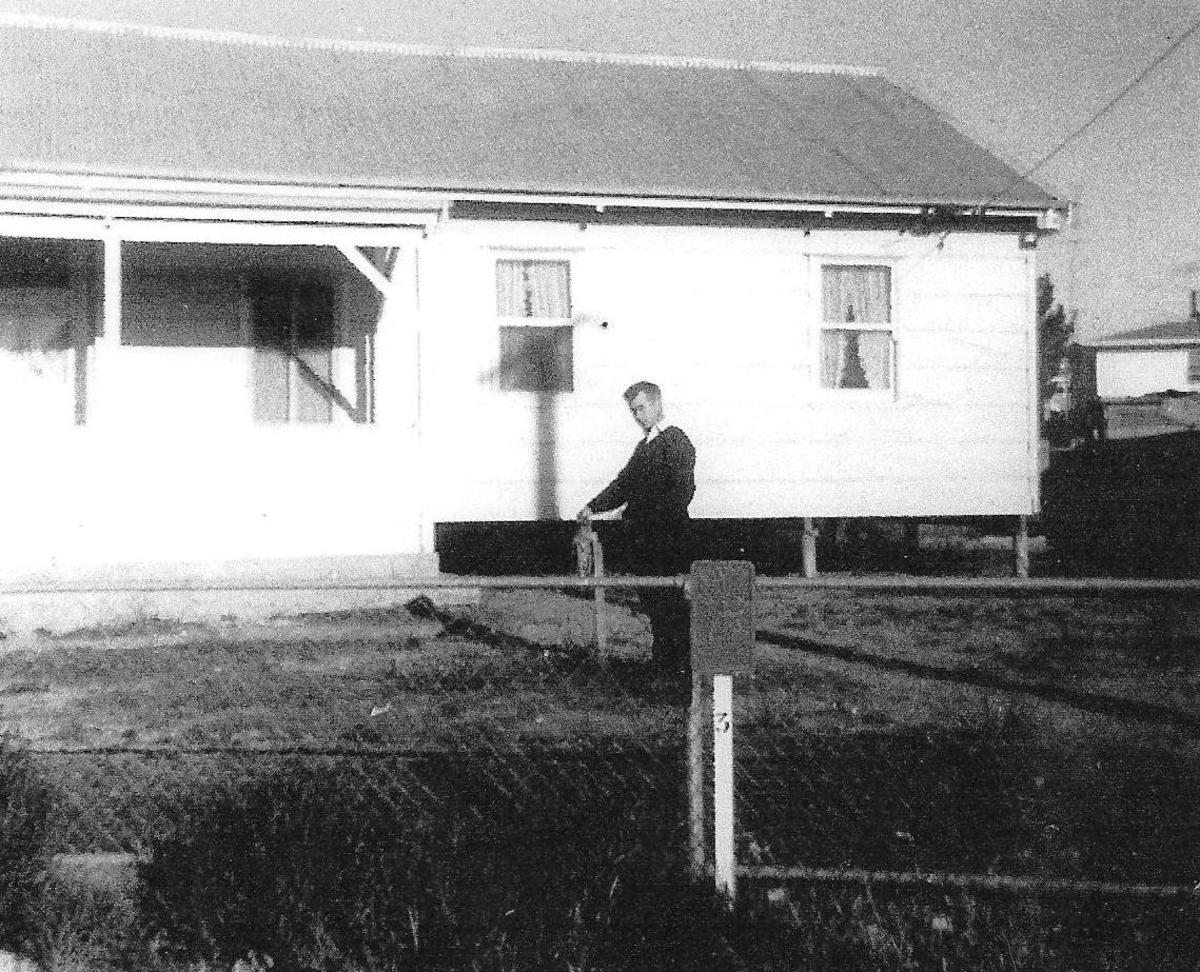 Peter at the railway house in Lamaroo, South Australia 1967.