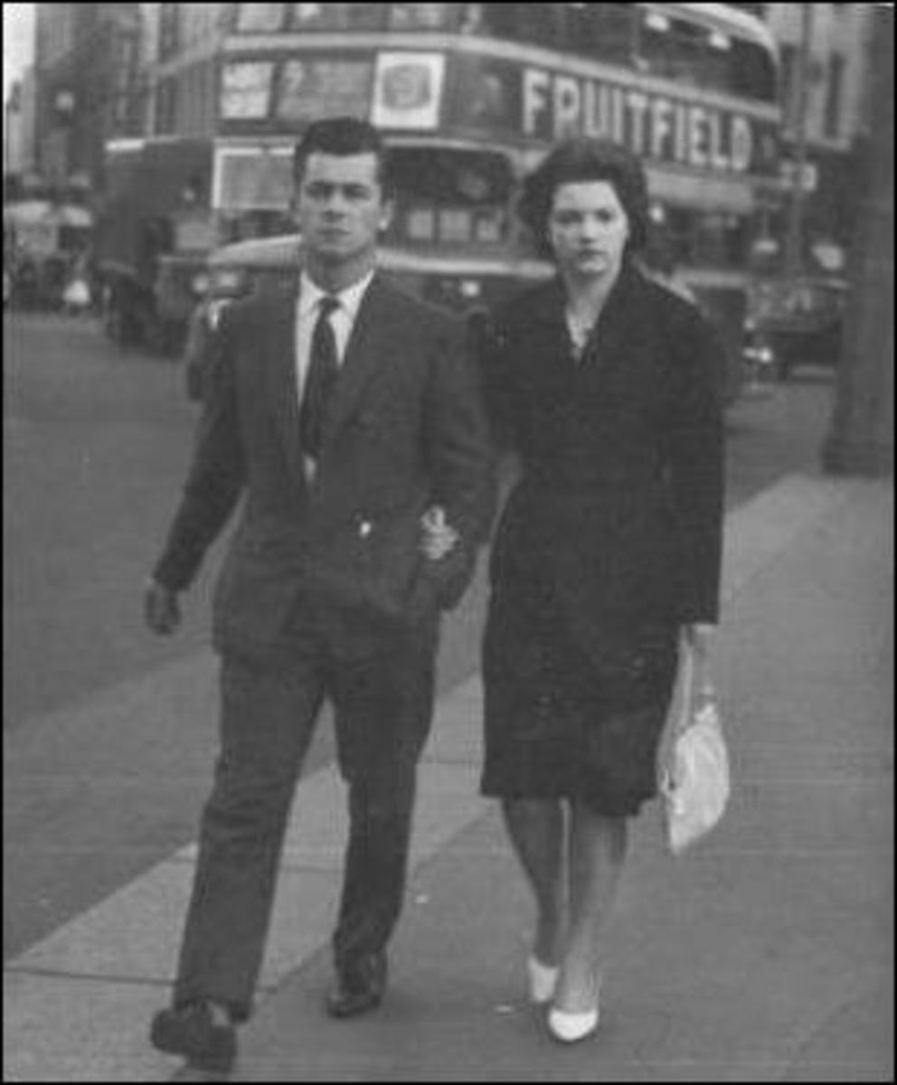 Peter and Chris Reid in London in 1965