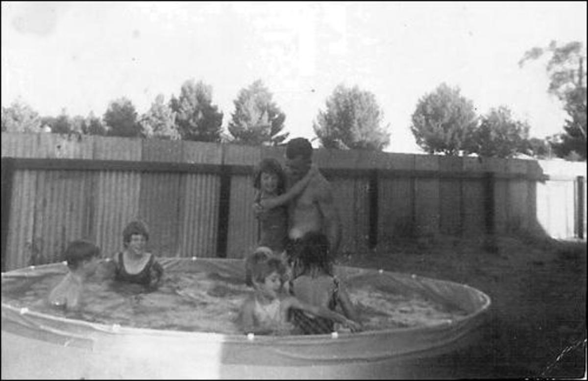 Enjoying Christmas day in Lameroo Australia in 1967