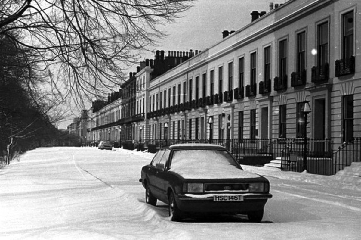 belhaven terrace, in the snow