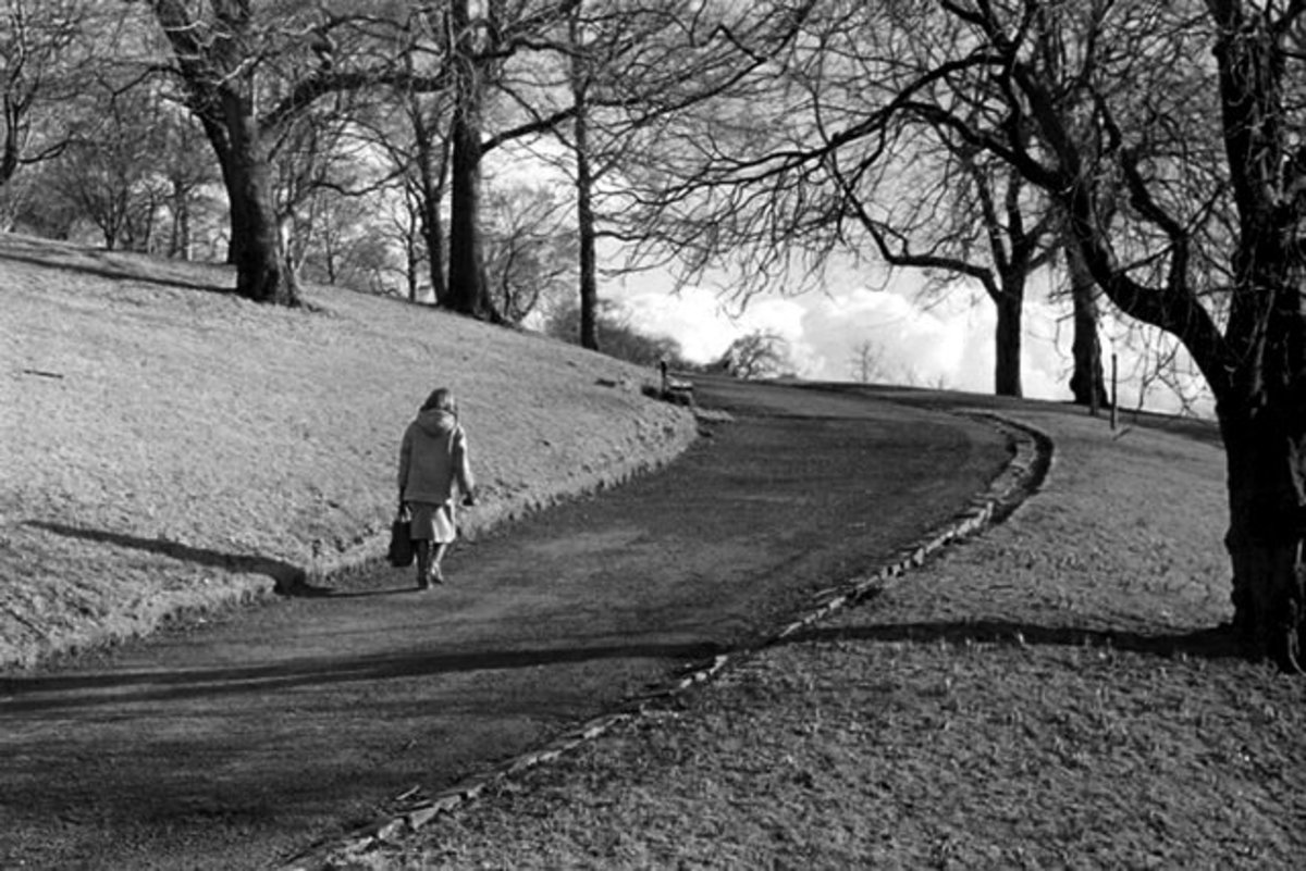 the climb to park circus, kelvingrove
