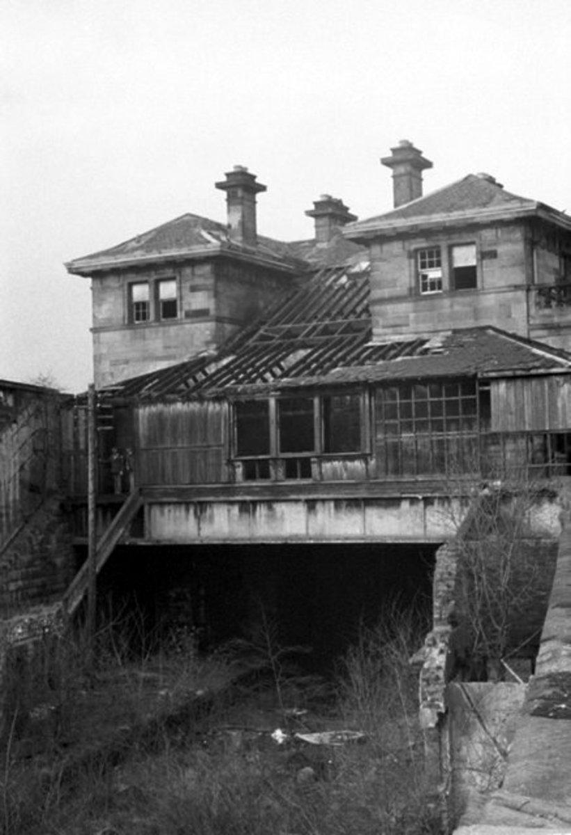 gartnavel station, disused