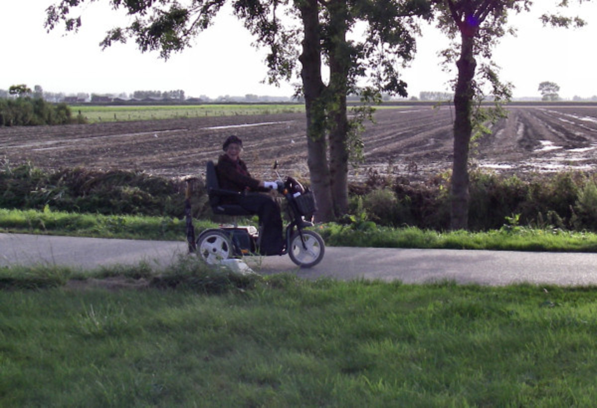 Mom on her invalid scooter