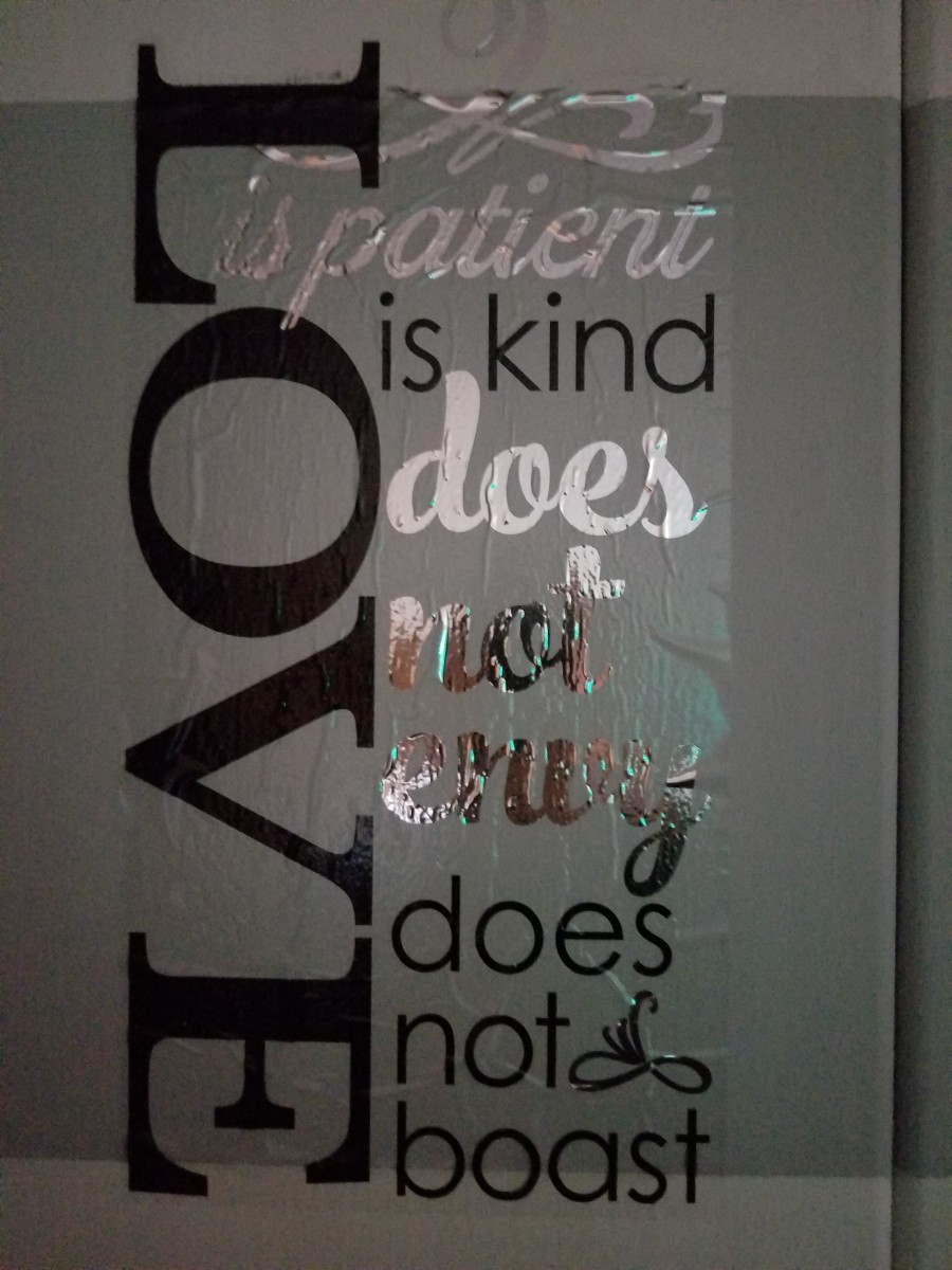 This image is imprinted on my armoire.  A gentle reminder and daily guide.