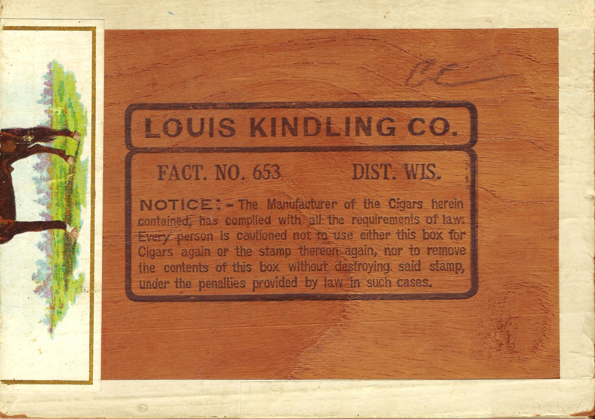 Bottom of the vintage cigar box