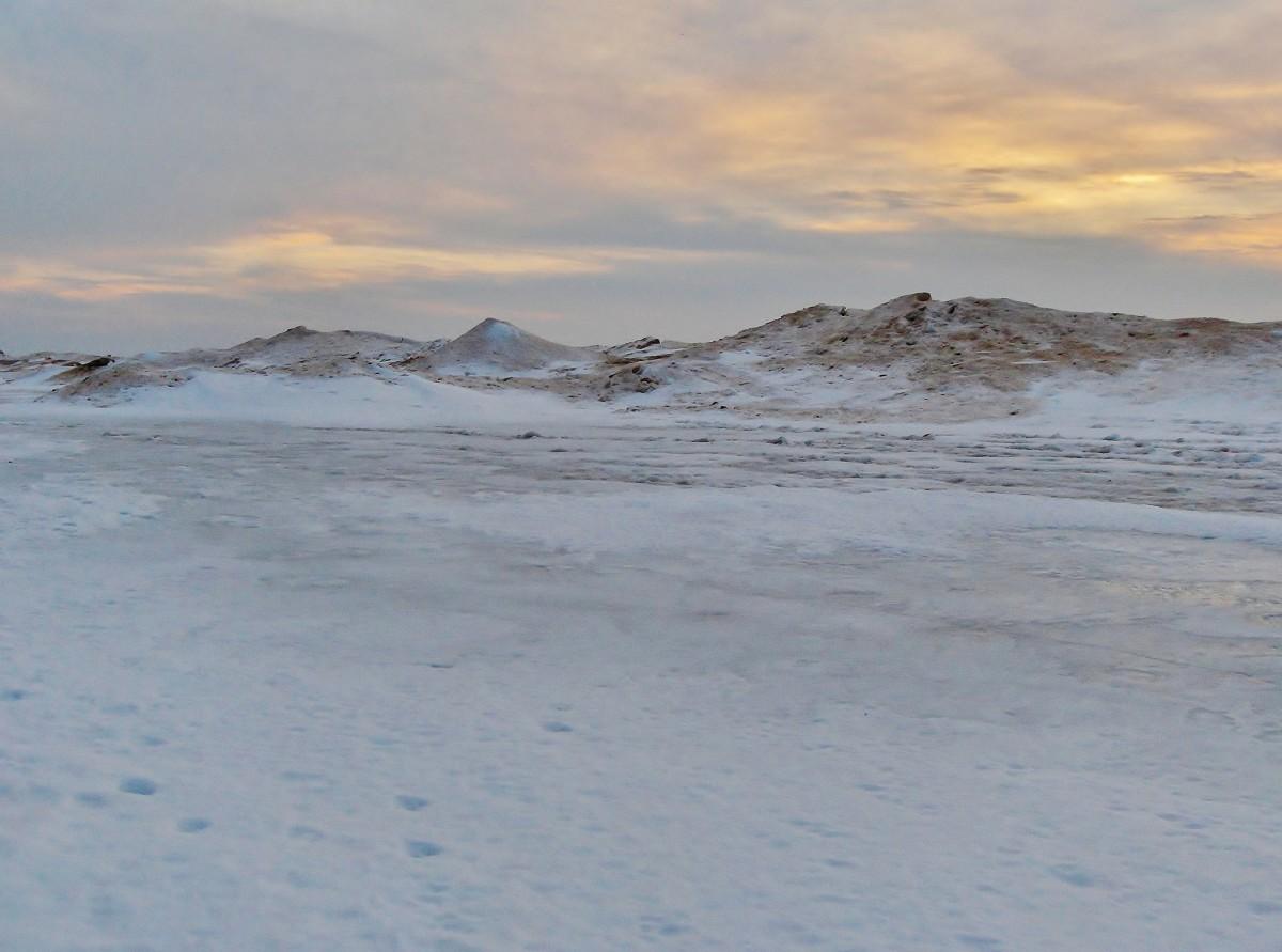 Lake Michigan Frozen Shoreline