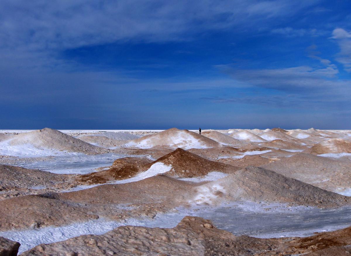 Lake Michigan Mounting Ice Shelf