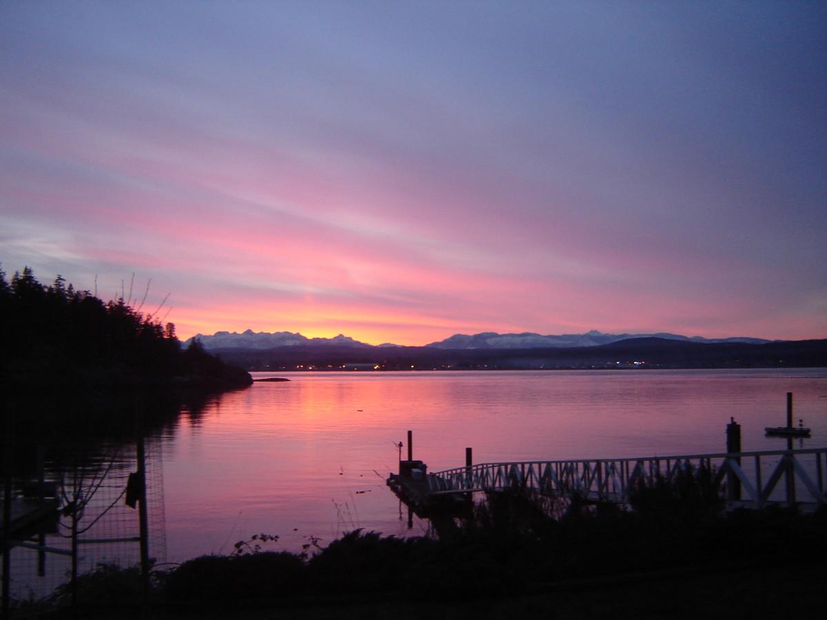 Beautiful west coast sunset
