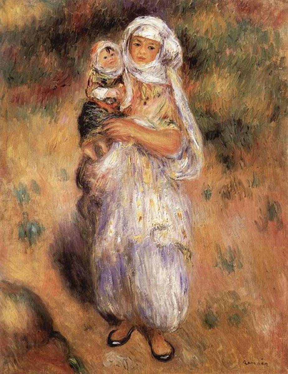 Algerierin mit Kind, by Pierre-Auguste Renoir, 1882