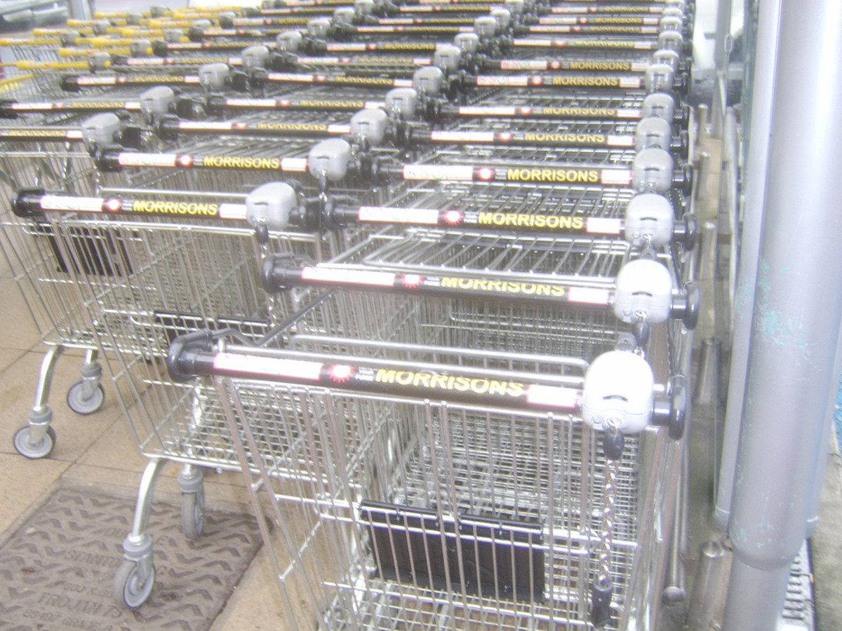 Supermarket trolleys/carts - highly dangerous in the wrong hands