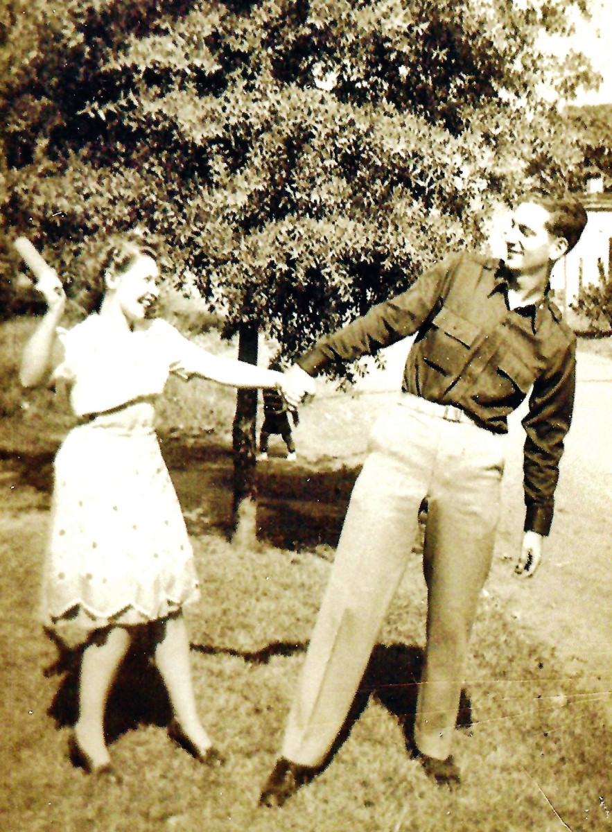 My husband's parents in 1942