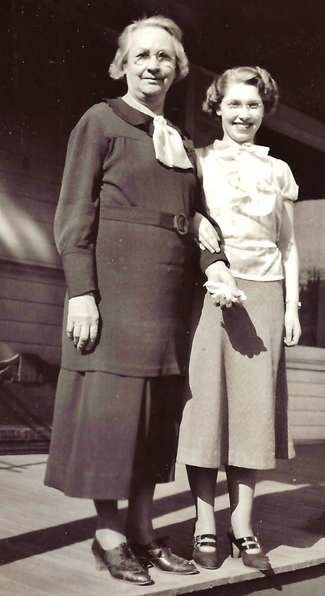 "Labeled ""Grandma Beyer and I"""