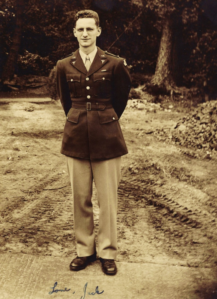 My husband's father in army officer uniform, 1942