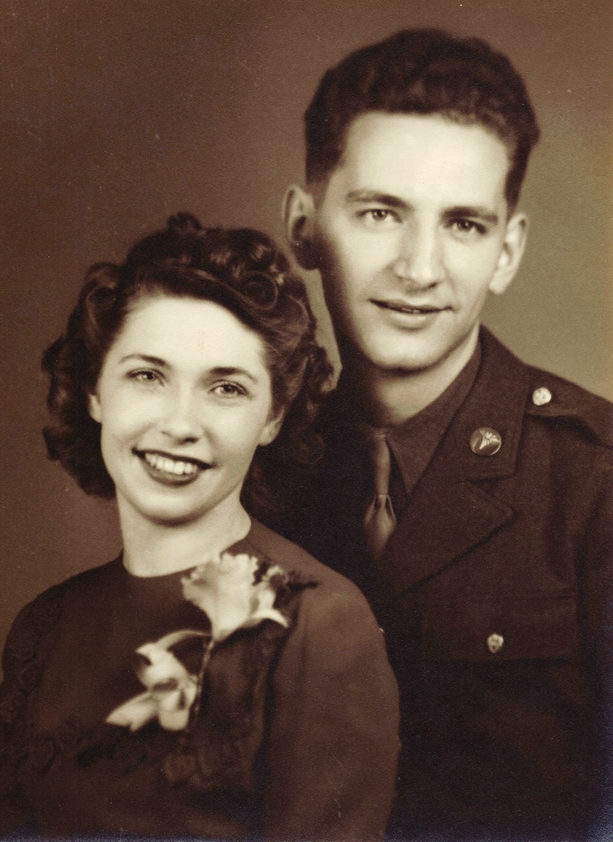 The newlyweds in 1942.