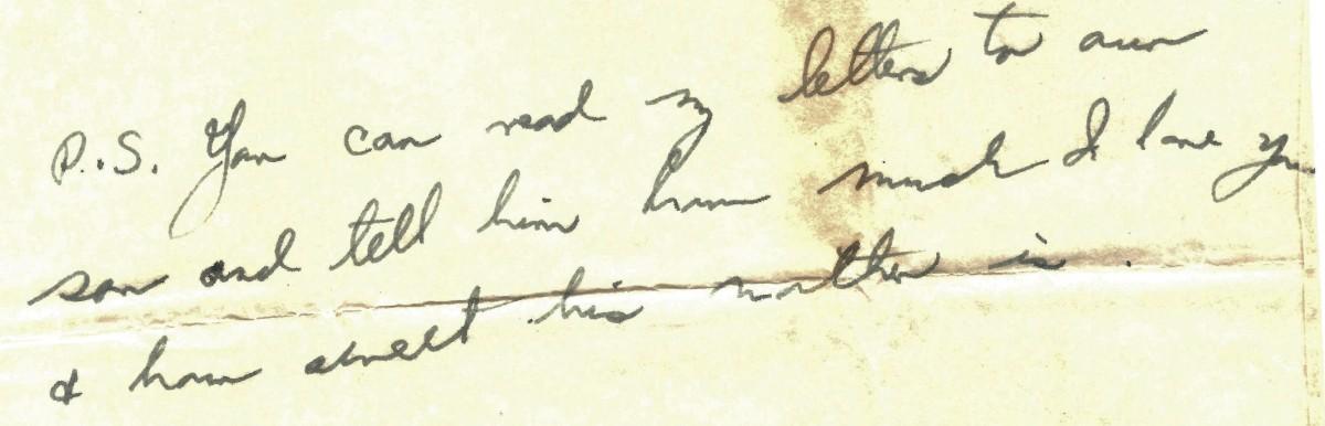 Portion of this joyfully written letter.