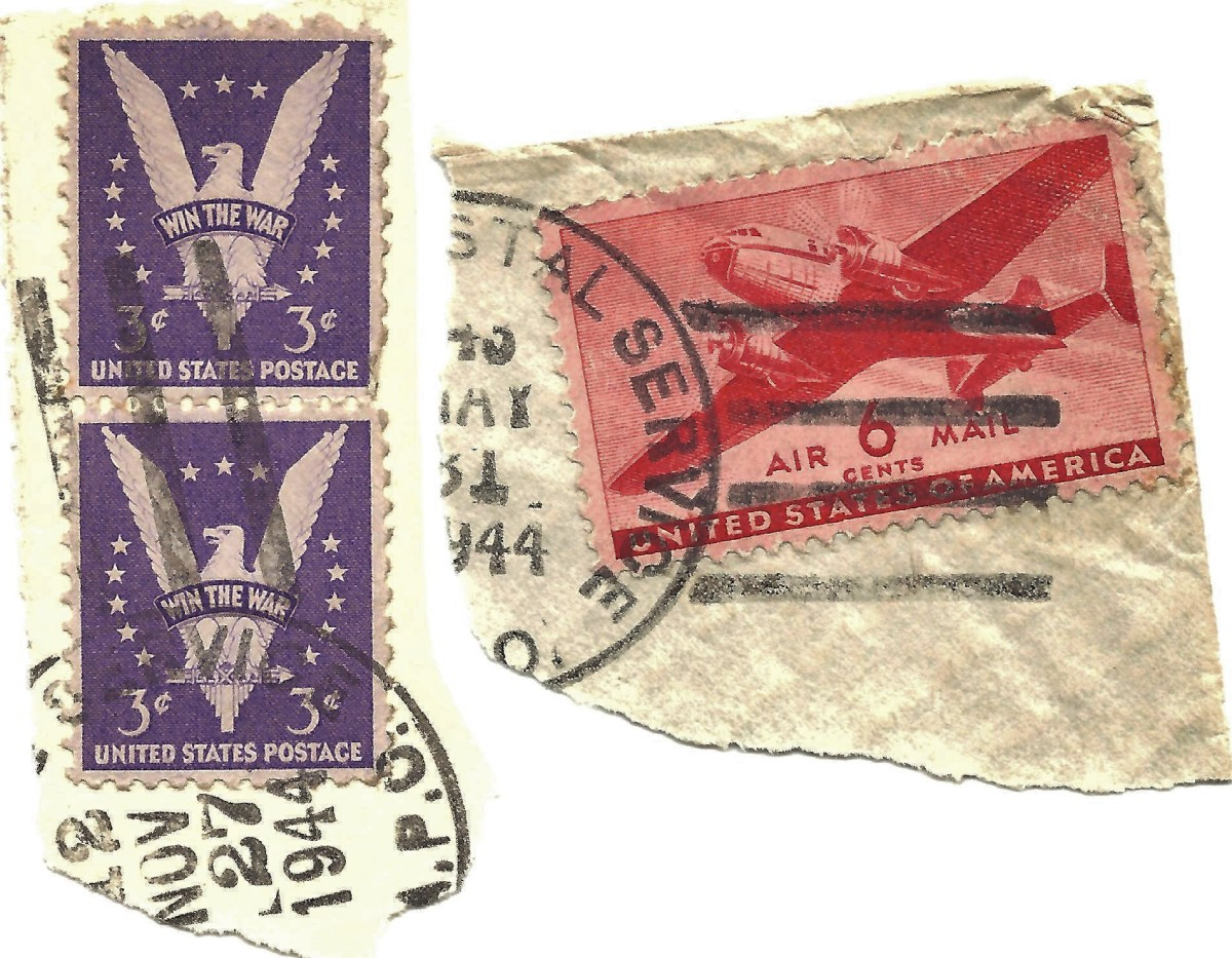 U.S. Postage stamps in 1944