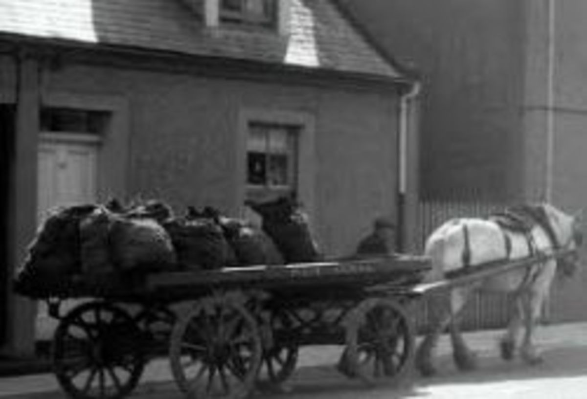 1940s Kids used to hang on the coalman's cart