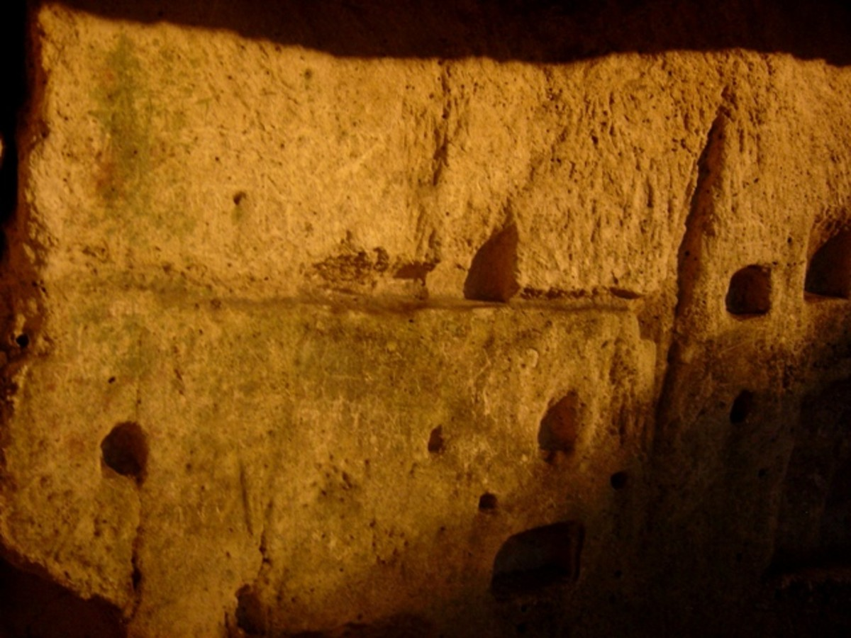 Inside the caves there are small holes