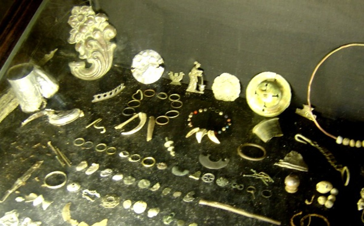 Artifacts from the Chateau of Peyras, Charente