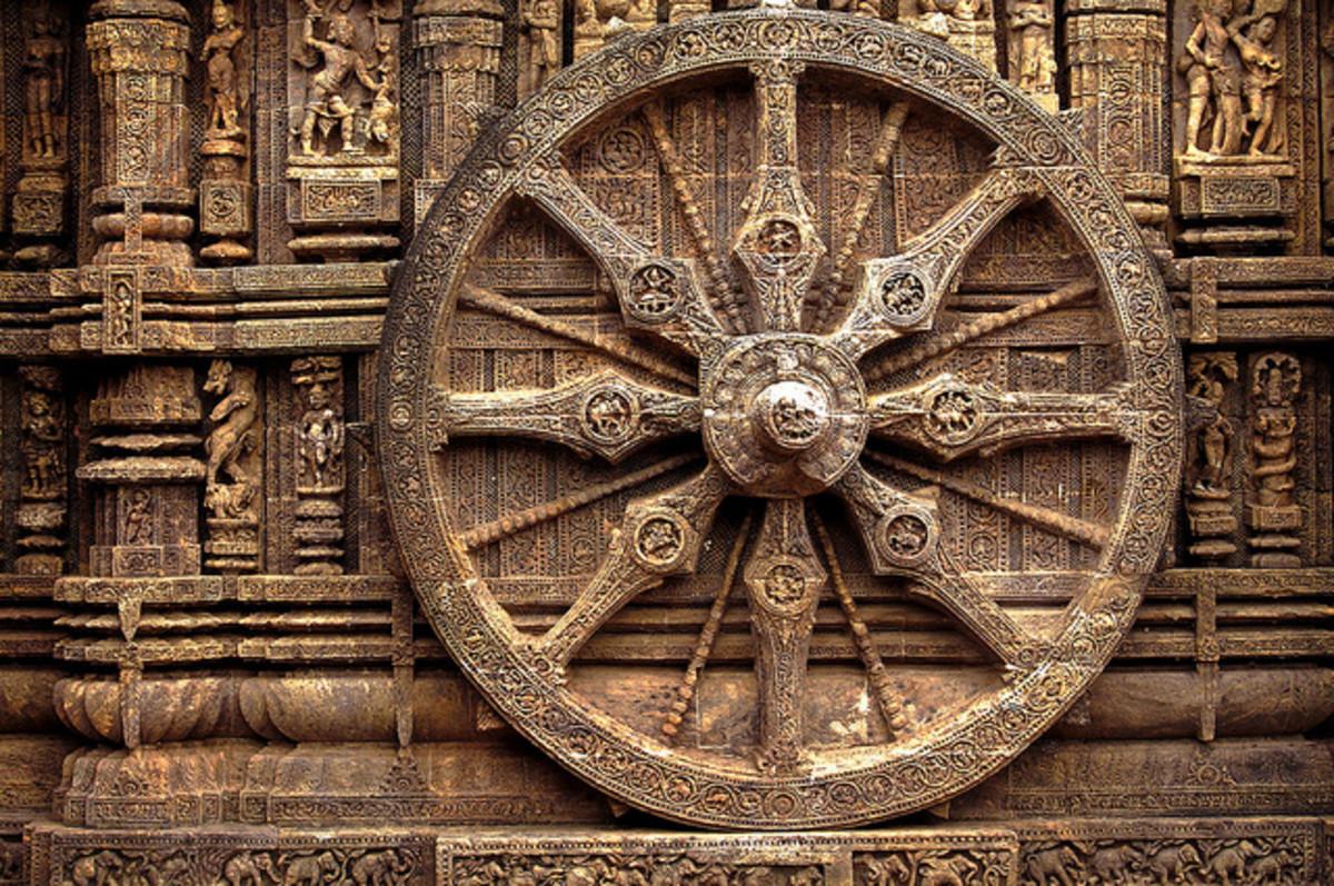 Konark stone wheel (10 feet in diameter)