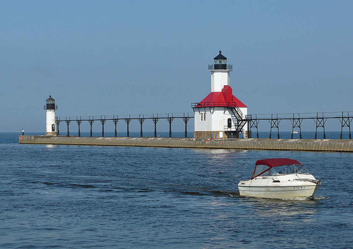 Michigan has some beautiful lighthouses. This one is located in St. Joe, MI, about 30 minutes north for us