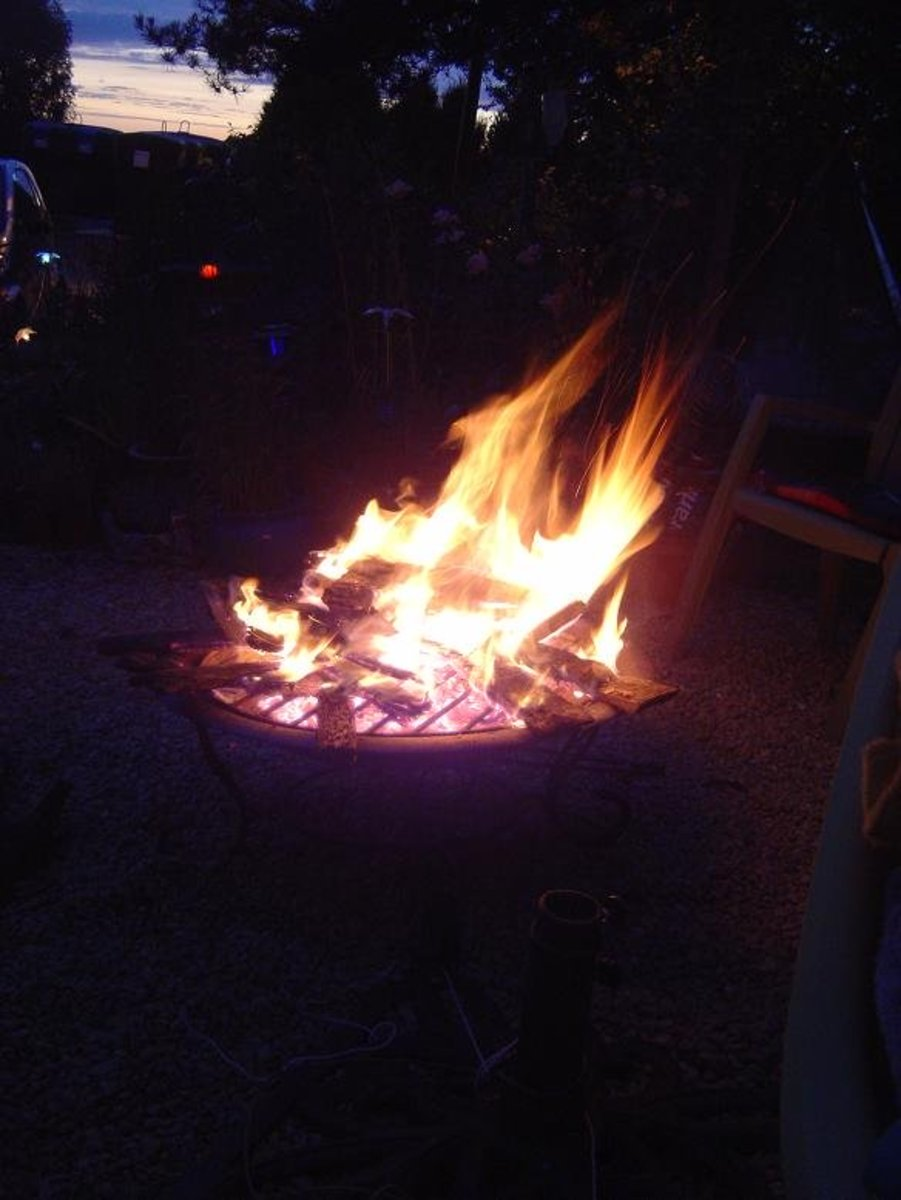 Fire at Brantome