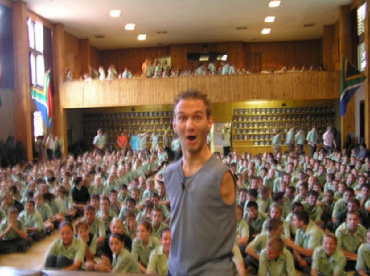 Nick Vujicic motivational speaking.