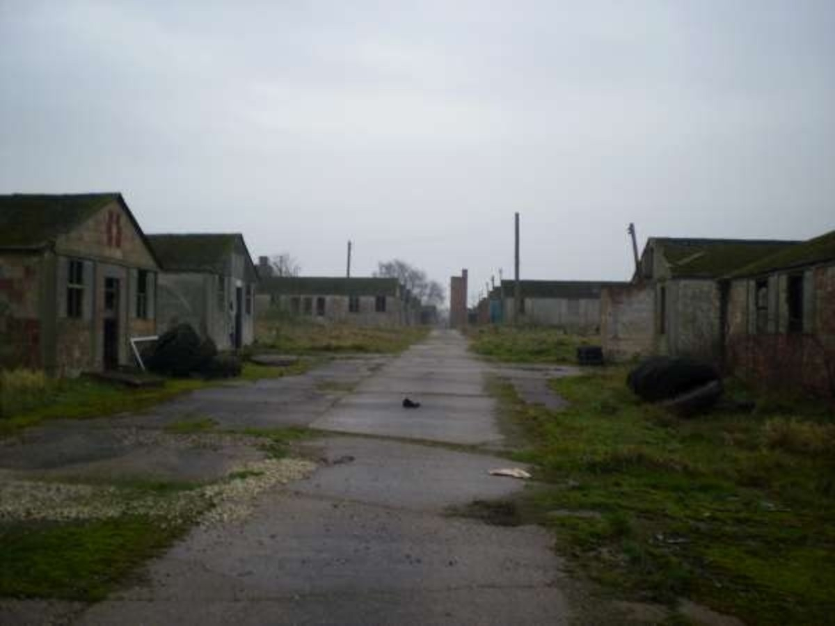 Derelict camp in England that once held German POWs.