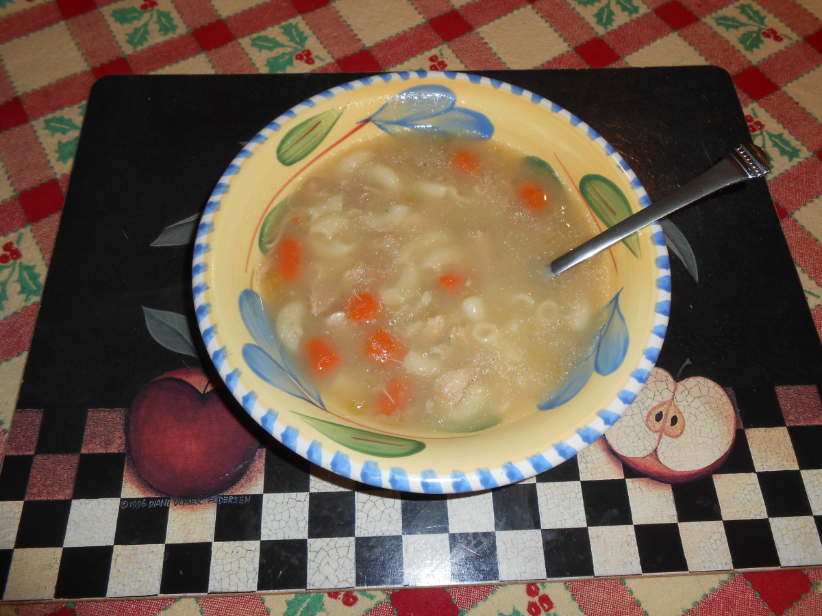 Home made turkey soup is a great healer full of warmth and nutrition!