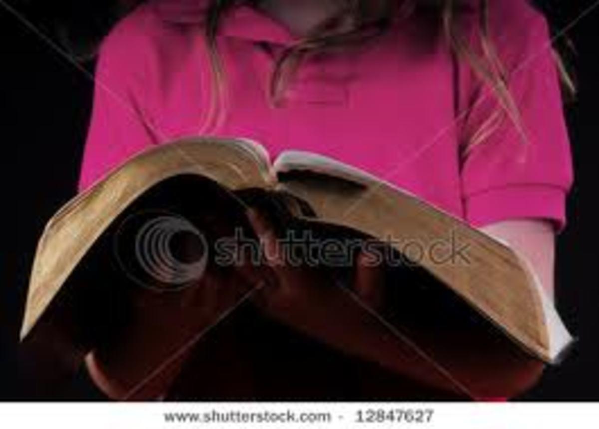 As little girls, we helped our friend read Bible verses in Sunday School.