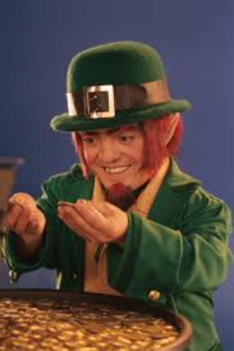 Leprechaun with his pot of gold.