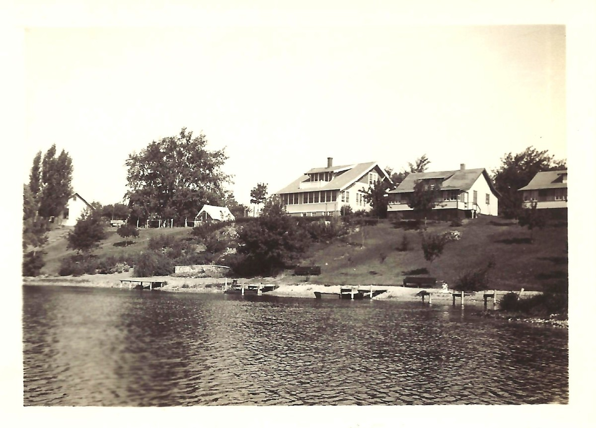 My grandmother's home and the cottage that my parents purchased on the right.