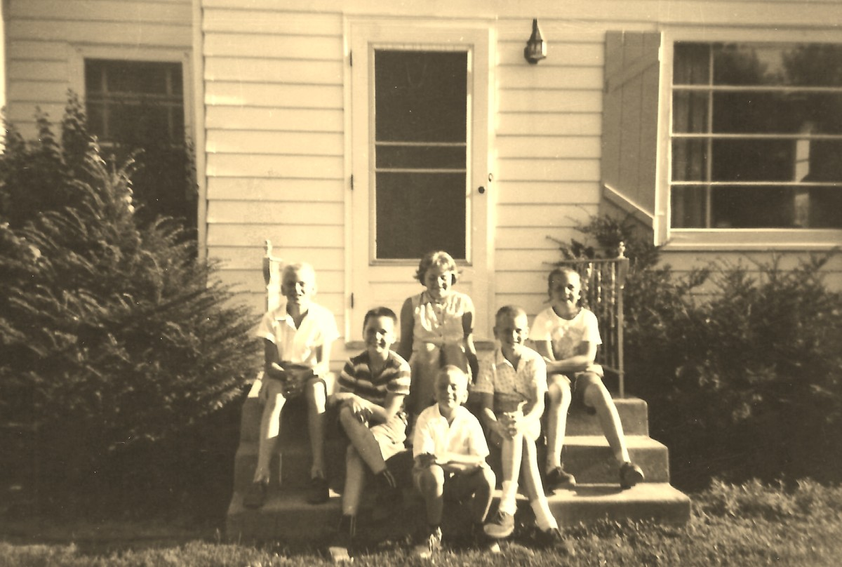 My brothers, cousins and me - 1960 prior to my family moving to Texas.  Some sad goodbyes were said!