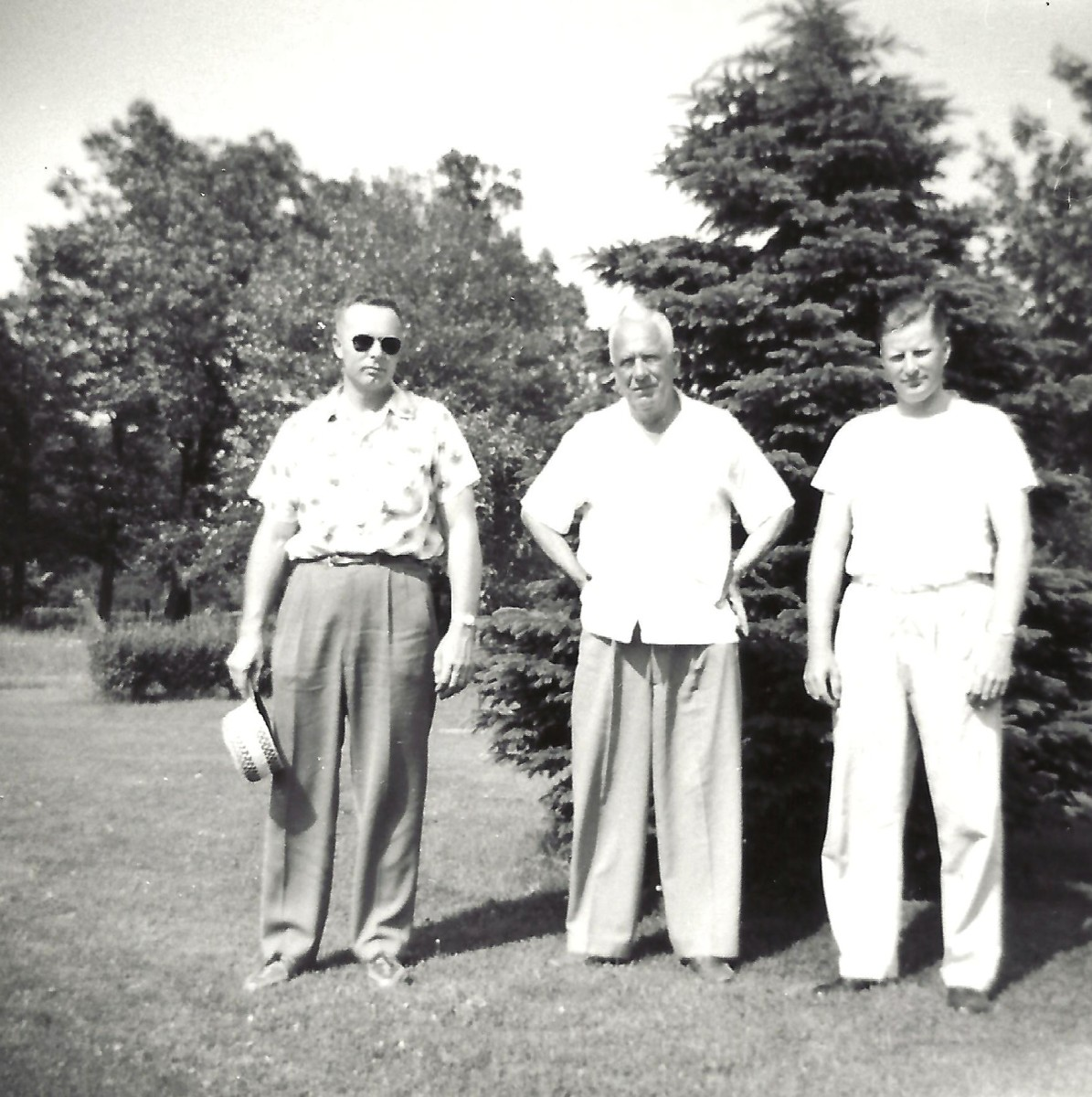 Left to right...my Dad, Grandpa and Uncle Russ in 1957.