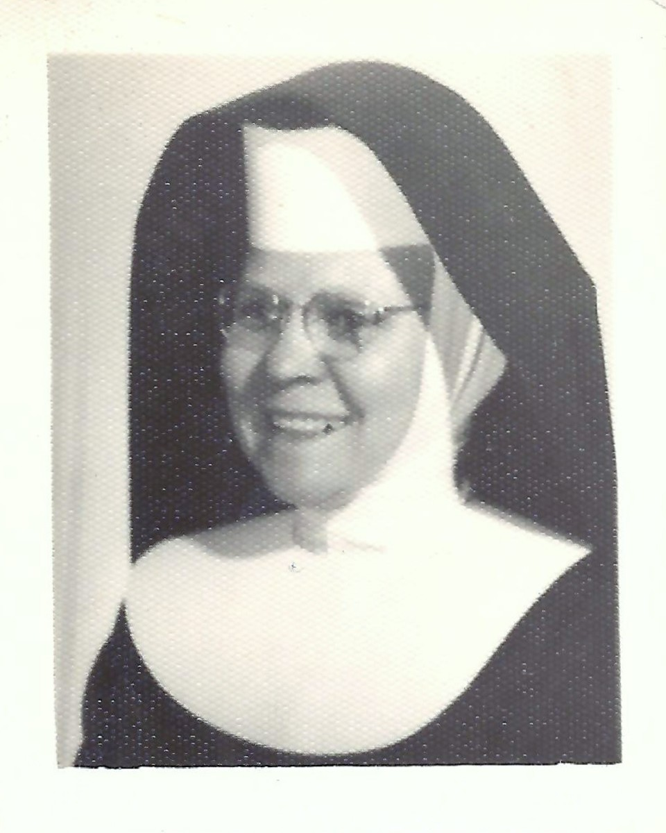Sister Lucas, the principal at St. Joan of Arc Catholic School back in the 1950s.