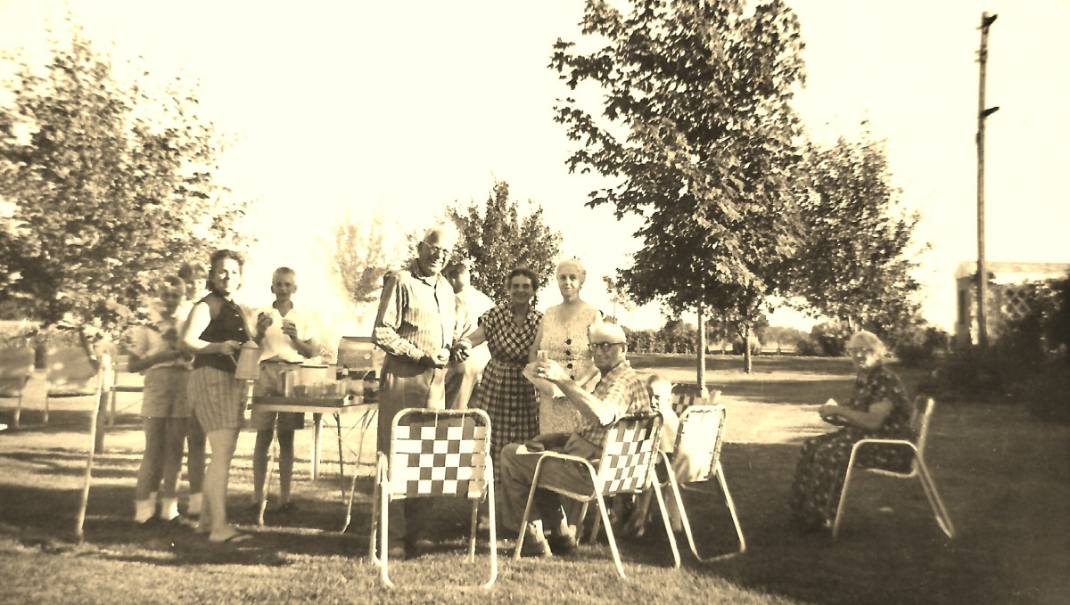 Family picnics in the 1950s