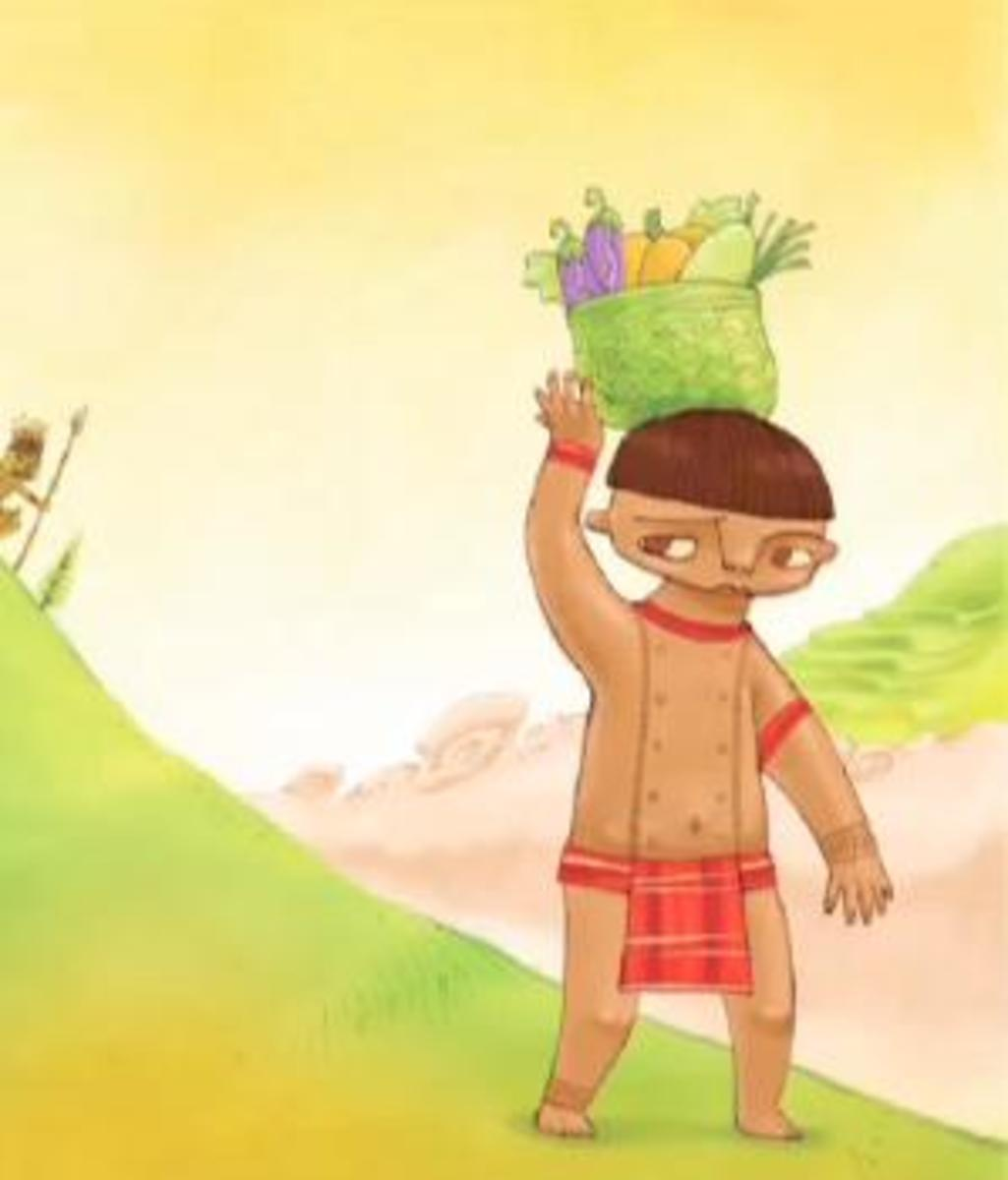 Pago is only 3 and 1/2 ft. in height at the age of 30. He is being  bullied and maltreated by the townspeople.