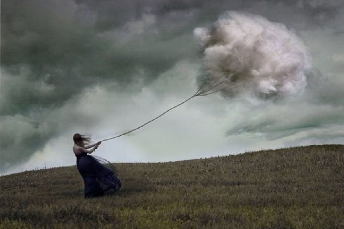 Girl Blowing Clouds
