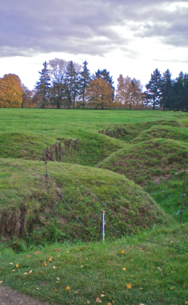 A line of trenches from WWI (c) A. Harrison