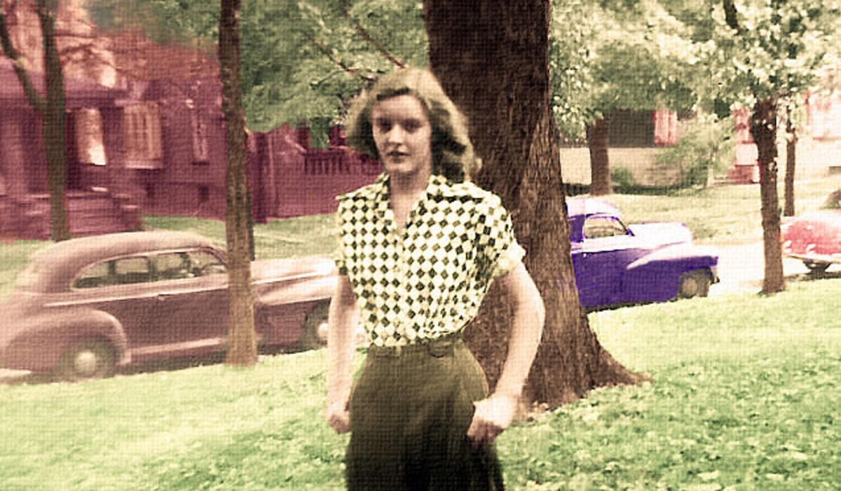 My mother.  My friend Jackie Lynnley here on HubPages fixed the photo and added color.