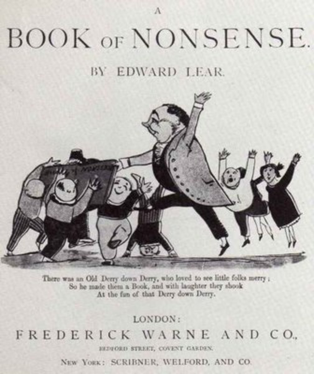 One of Edward Lear's early nonsense books