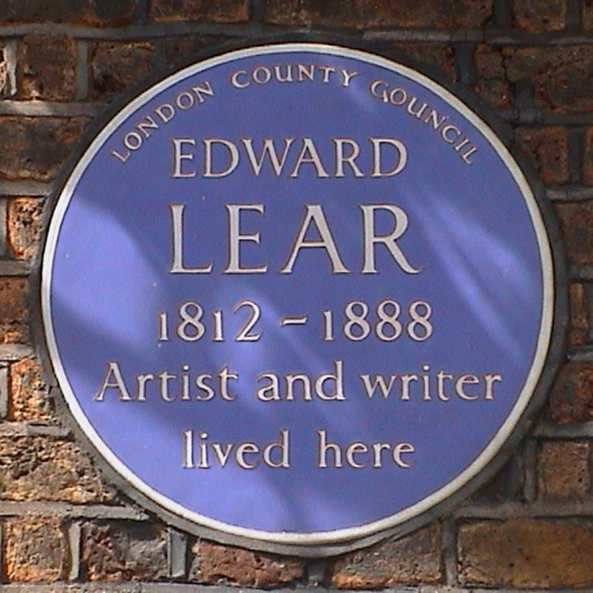 Edward Lear lived and worked in Seymour Street, London.