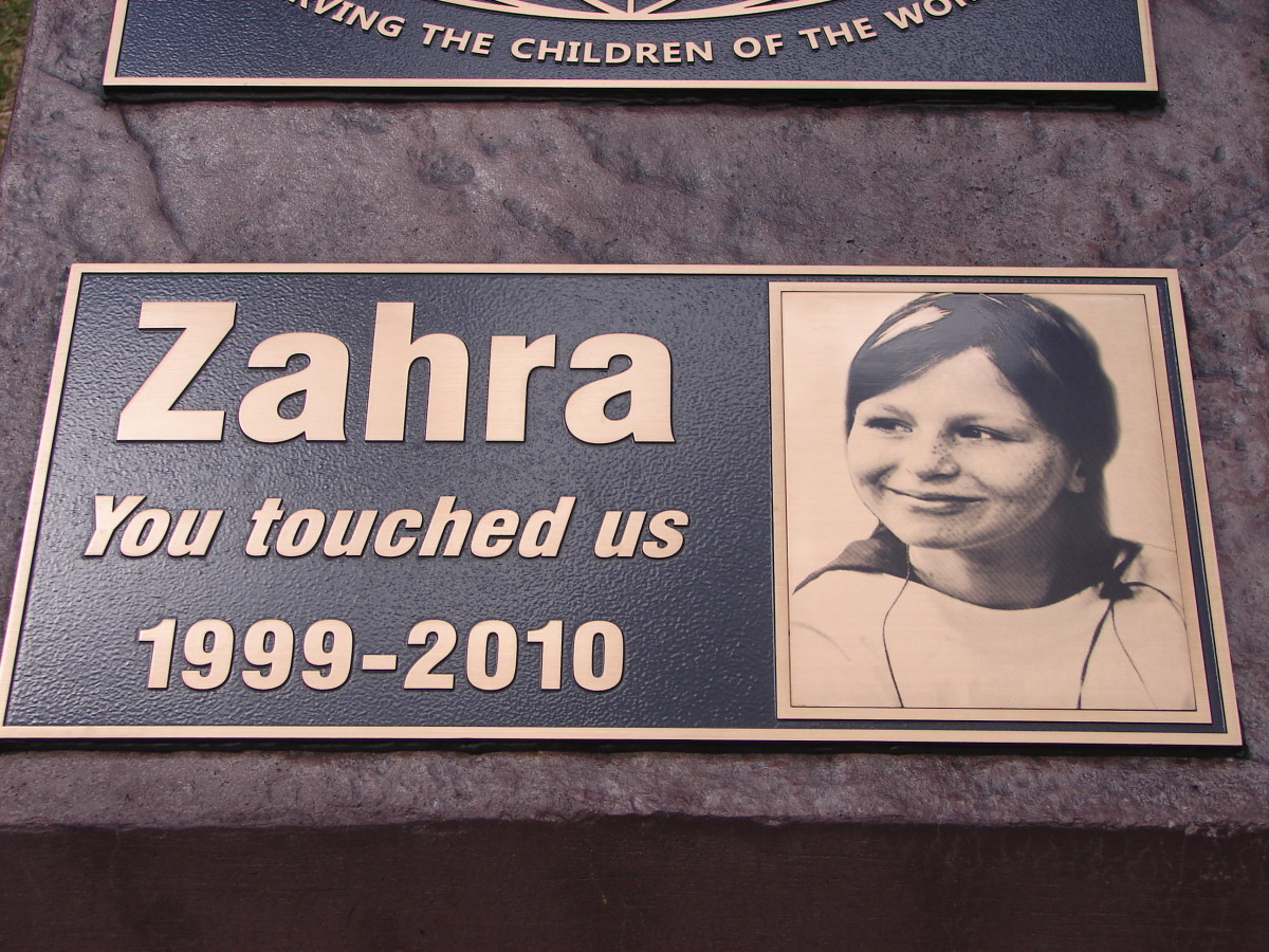 Plaque in Dedication to Zahra