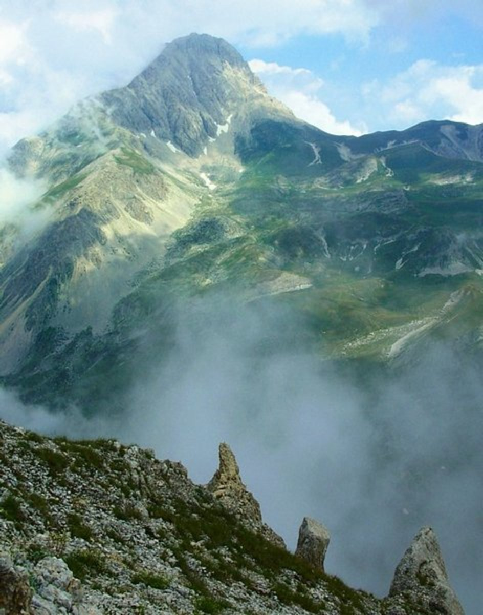 Gran Sasso, highest peak in the Italian Apennines