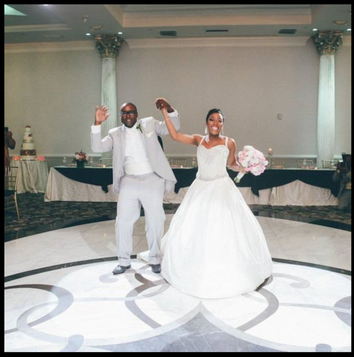 Wanisha and Moe, danced together at their wedding celebration.
